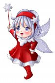 image of pixie  - Cartoon illustration of character for Christmas - JPG