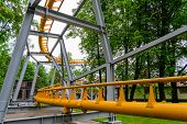 stock photo of amusement park rides  - Roller coaster - JPG