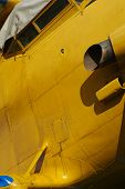 picture of biplane  - Sporting biplane aircraft details machine part transportation - JPG