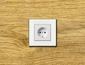 picture of electric socket  - one electric socket - JPG