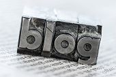 picture of loyalty  - the word blog written with lead letters - JPG