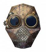 stock photo of steampunk  - Steampunk metal robot head - JPG