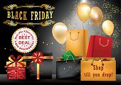 foto of friday  - Colorful Black Friday advertising poster for print - JPG