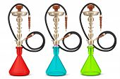 picture of hookah  - Eastern Glass Hookahs on a white background - JPG