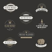picture of whiskey  - Whisky Hipster Logo design vector typography lettering templates - JPG