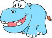 image of hippopotamus  - Happy hippopotamus Vector Illustration Art - JPG