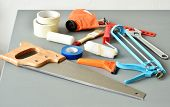 image of gaffer tape  - DIY tools on a table - JPG