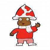 foto of magical-mushroom  - retro comic book style cartoon mushroom man - JPG