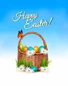 pic of blue butterfly  - Happy Easter background - JPG