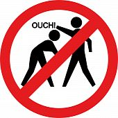 stock photo of no fighting - Ouch sign - JPG