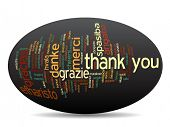 image of appreciation  - Concept or conceptual abstract thank you word cloud in different languages or multilingual for education or thanksgiving day - JPG