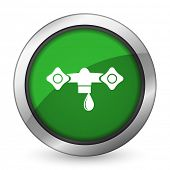 picture of hydraulics  - water green icon hydraulics sign  - JPG