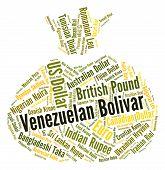 foto of bolivar  - Venezuelan Bolivar Representing Currency Exchange And Foreign - JPG
