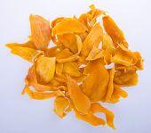 stock photo of mango  - mango dry or dried mango slices on background - JPG