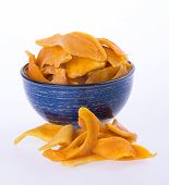 image of mango  - mango dry in bowl or dried mango slices - JPG