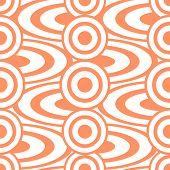 foto of debonair  - Cheerful abstract seamless print of circles and rings - JPG
