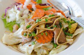 stock photo of noodles  - Yaki soba noodles - JPG