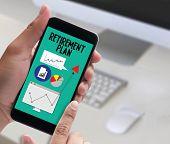 Retirement Plan Savings  Senior Investment  Retirement Plan  Pension , Retirement Aspirations And Fi poster