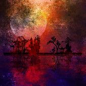 stock photo of fantasy landscape  - Asia Landscape Textured Painting - JPG