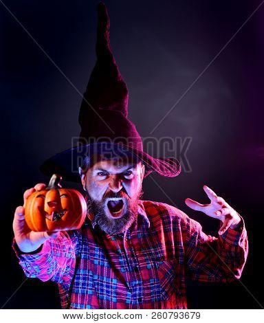 Halloween Man With Scary Face