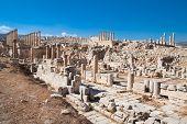Постер, плакат: Древние Джераш руины Римская древний город из Geraza Иордания