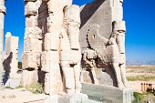 stock photo of xerxes  - Entrance gate to historical complex - JPG