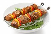 pic of kebab  - shish kebab on skewers - JPG