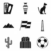 Path Of Travel Icons Set. Simple Set Of 9 Path Of Travel Icons For Web Isolated On White Background poster