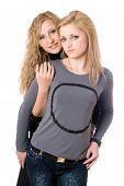 foto of friendship belt  - Portrait of two attractive young women - JPG