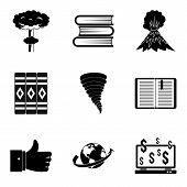 Literary Icons Set. Simple Set Of 9 Literary Icons For Web Isolated On White Background poster