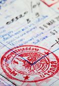 red lao visa in a us passport