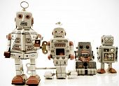 stock photo of tin man  - a team of robots - JPG