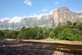 foto of canaima  - Auyan Tepuy with Angel Falls  - JPG