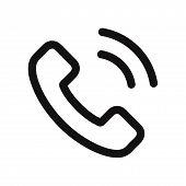 Постер, плакат: Phone Call Icon Isolated On White Background Phone Call Icon In Trendy Design Style Phone Call Vec
