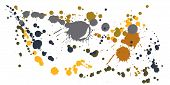 Watercolor Paint Stains Grunge Background Vector. Decorative Ink Splatter, Spray Blots, Dirt Spot El poster