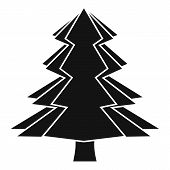 Fir Tree Icon. Simple Illustration Of Fir Tree Icon For Web poster