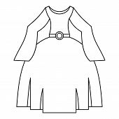 Princess Dress Icon. Outline Illustration Of Princess Dress Icon For Web poster