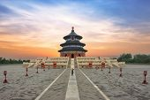 Wonderful And Amazing Beijing Temple - Temple Of Heaven In Beijing, China. Hall Of Prayer For Good H poster