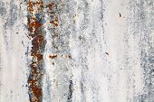 Rusty Metal Texture. Close Up Of Grunge Metal Background. poster