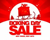 Boxing day sale design, raster version poster