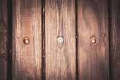 Background Of Wooden Boards, Vertical Texture Of A Fence, Vignetting Photo With Space For Text poster