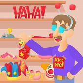 April Fools Day Concept. Cartoon Illustration Of April Fools Day Concept For Web poster