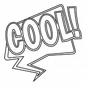 Cool, Comic Text Sound Effect Icon. Outline Illustration Of Cool, Comic Text Sound Effect Icon For W poster