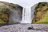Waterfall Skogafoss, Iceland poster