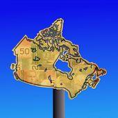Постер, плакат: Канада знак с наличными