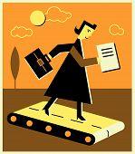 Постер, плакат: Предприниматель на беговой дорожке