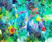 stock photo of expressionism  - Colorful abstract painting - JPG