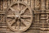 stock photo of surya  - Chariot Wheel - JPG