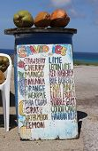Shaved Ice And Fruit Stall Near The California Lighthouse, Aruba, Caribbean