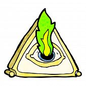 picture of all seeing eye  - all seeing eye cartoon - JPG